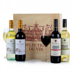 Four Wines in Wood Hamper